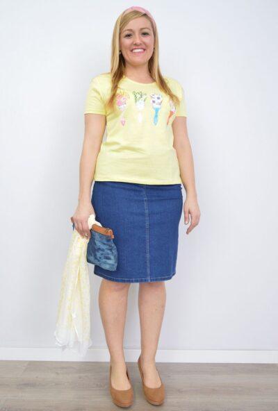 faldas-de-mujer,faldas-tallas-grandes,comprar-faldas-cortas,faldas -de-moda,Falda Vaquera
