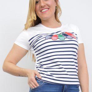 Camiseta Marinera Menorquinas Blanca