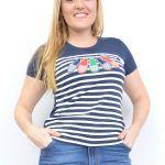 blusas-tallas-grandes,camisetas-tallas-grandes,camisetas -marineras,camisetas-de-rayas-mujer,Camiseta Marinera Menorquinas Marino