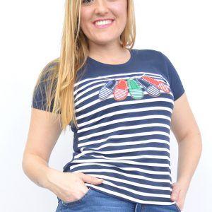Camiseta Marinera Menorquinas Marino