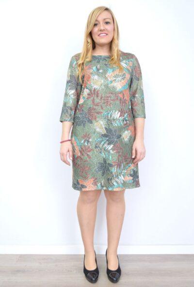 vestidos-estampados,ropa-mujer-economica,vestidos-encaje-vestidos-de-señora,vestidos-blonda,Vestido Encaje Estampado Floral Verde