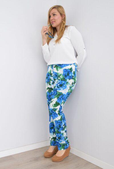 pantalones tiro alto mujer,ropa para crucero,ropa de verano mujer,moda tallas grandes para mujer,Pantalón de Vestir Estampado