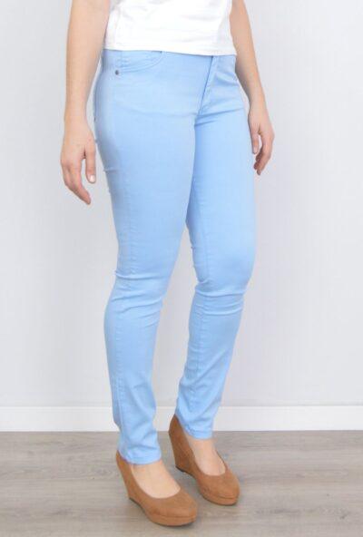 pantalones de verano mujer,tejanos de moda mujer,vaqueros de colores mujer,pantalones de moda,Pantalón Vaquero Mujer Celeste