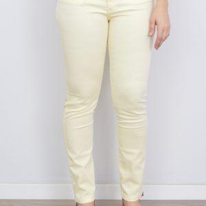 Pantalón Vaquero Mujer Amarillo