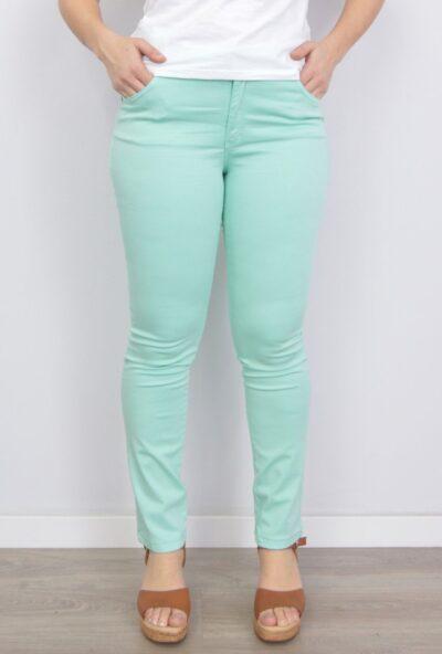 pantalones de verano mujer,tejanos de moda mujer,vaqueros de colores mujer,pantalones de moda,Pantalón Vaquero Mujer Agua Marina