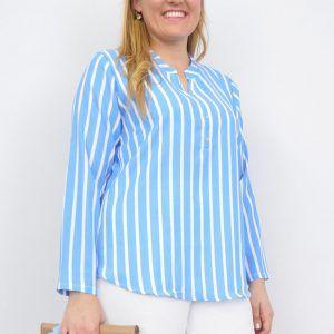 Blusa Rayas Azul