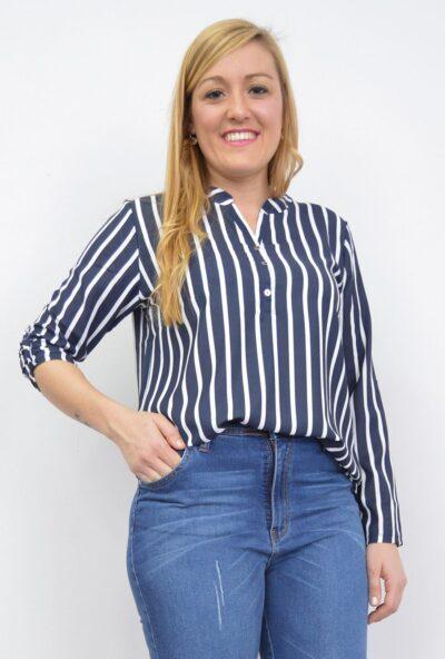 tallas-grandes-mujer,ropa-de-mujer,blusa de vestir,blusas de moda xxxxl,Blusa Rayas