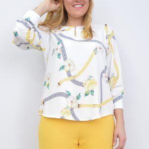 Blusa Estampada Cadenas Floreada