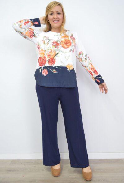 pantalones-tallas-grandes-de-mujer,pantalones-de-moda-mujer,pantalones-pata-ancha-mujer,pantalones-pata-elefante-de vestir,Pantalón Palazzo Punto Marino