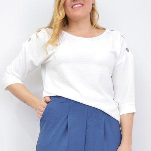 Blusa Básica Mujer Botones