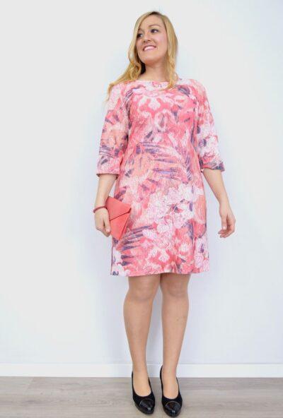 vestidos-estampados,ropa-mujer-economica,vestidos-encaje-vestidos-de-señora,vestidos-blonda,Vestido Encaje Estampado Flores