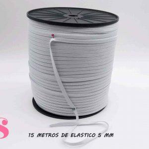 15 METROS DE ELÁSTICO 5MM.
