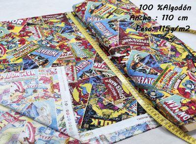 tela-estampada-marvel-capitan-america-hulk,Tejido Estampado Comic Marvel Original