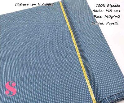 topos-algodon-estampado-naturales-geometricas-modernas-patchwork-para-vestidos-liberty,Tejido Algodón Estampado Topos Blanco Fondo Azul