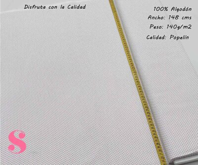 topos-algodon-estampado-naturales-geometricas-modernas-patchwork-para-vestidos-liberty,Tejido Algodón Estampado Topos Nude Fondo Crudo