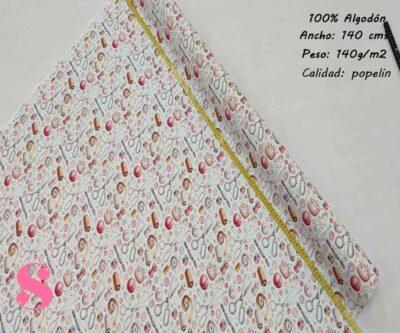 136-costura-tejidos-estampado-popelin, Popelín Estampado Motivos de Costura