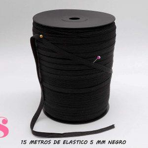 15 METROS DE ELÁSTICO 5MM COLOR NEGRO