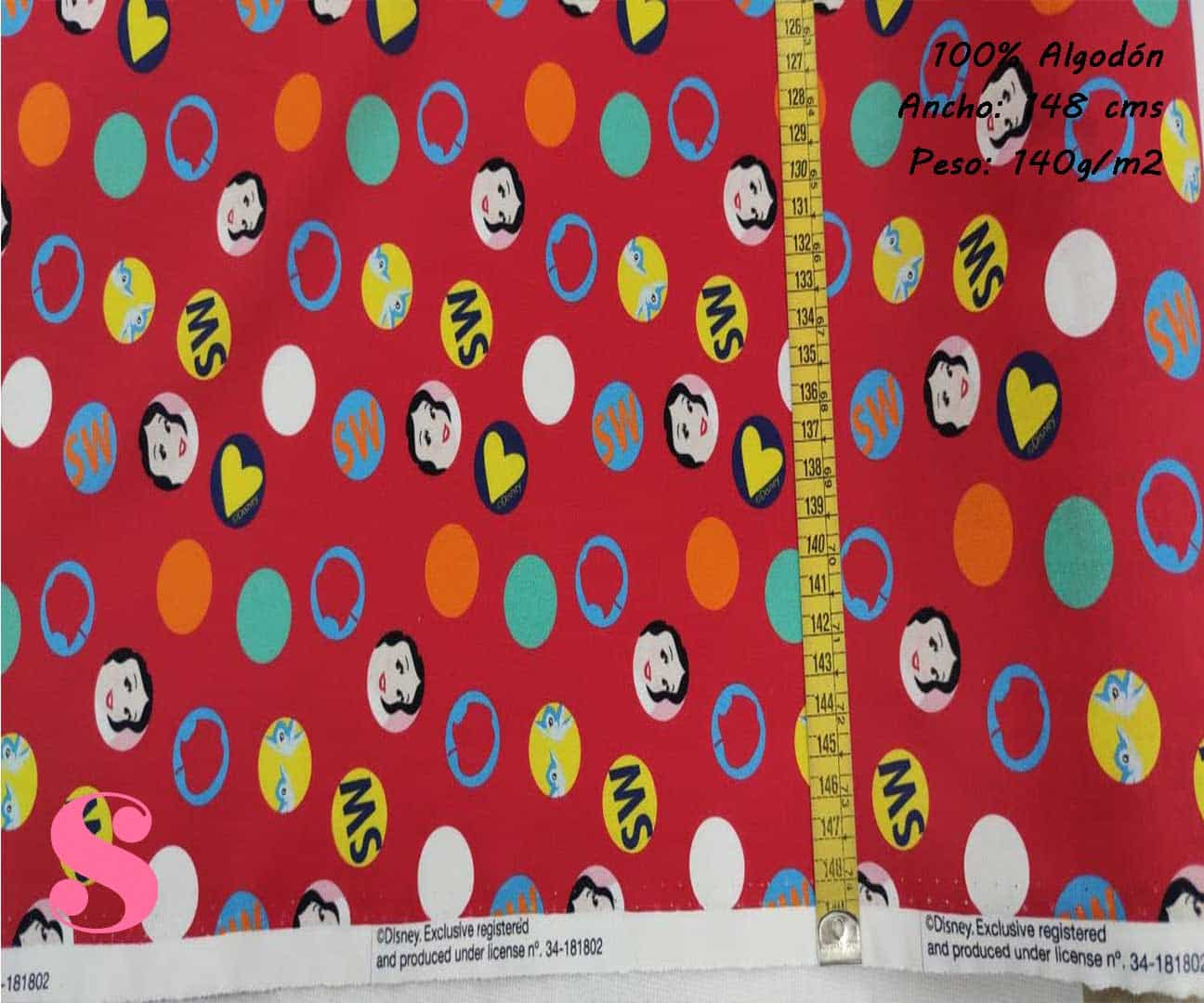 150-blancanieves-princesas-disney-tejidos-estampado-popelin,Tejido Estampado Disney Blancanieves