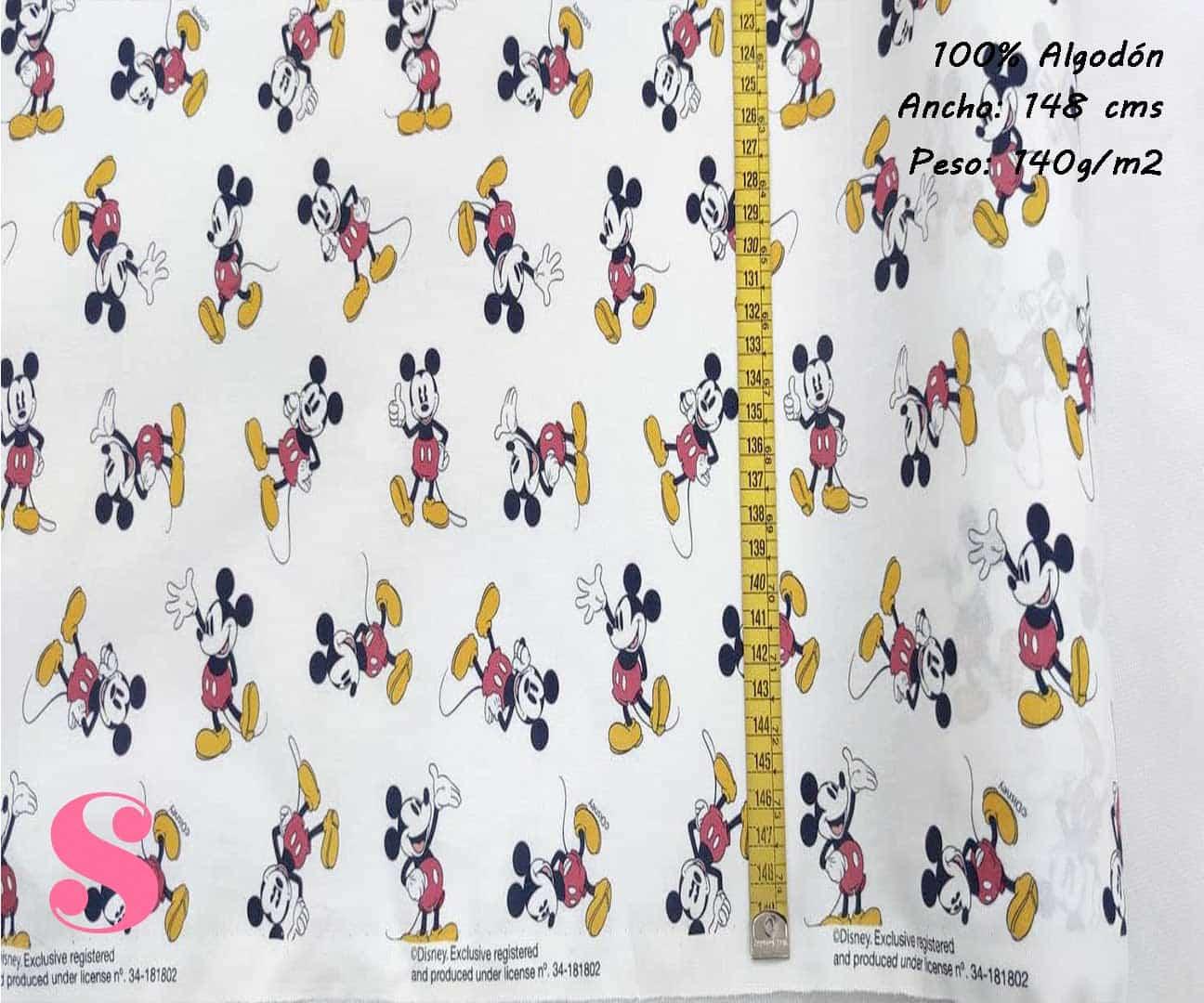152-mickey-mouse-disney-tejidos-estampado-popelin,Tejido Estampado Disney Mickey Mouse