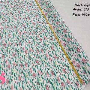 162 Tejido Estampado Flor de Loto