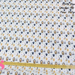 163 Tejido Estampado Patch Animalitos