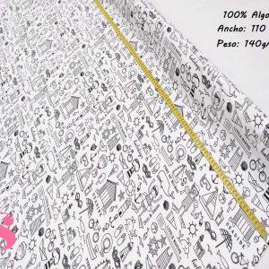 167 Tela para Colorear Motivos Playa