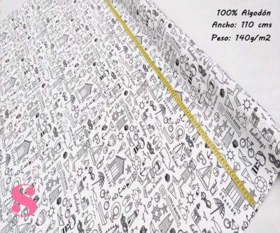 167-playa-verano-tejidos-estampado-popelin,Tela para Colorear Motivos Playa