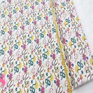 188 Pachtwork Flores con Serpientes