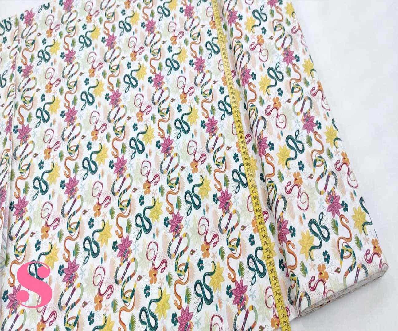 188-flores-serpiente-mosaico-estampado-patchwork-tejidos-algodon-popelin,Pachtwork Flores con Serpientes
