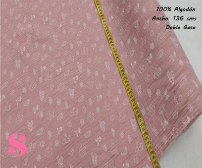 254-cactus-rosa-nude-tejido-muselina-doble-gasa-tacto-suave,Muselina Estampada Cactus Rosa