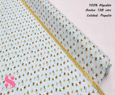 261-abejas-miel-tejidos-algodón-estampado-popelin,Tejido Estampado Abejitas