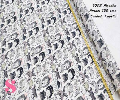 266-caras-niñas-amigas-tejidos-algodón-estampado-popelin,Tejido Estampado Girls & Boys