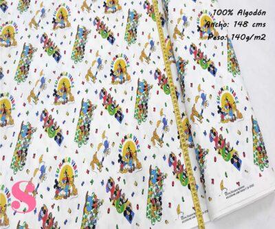 280-mickey-mouse-pluto-amigos-disney-tejidos-estampado-popelin,Tejido Estampado Disney Mickey Mouse y Amigos