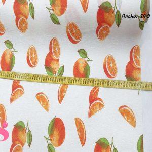 300 Mantel Naranjas Frutas Resinado Antimanchas