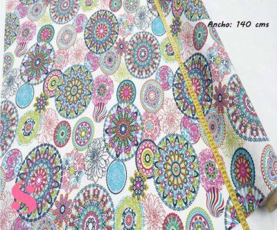 302-mosaico-flores-mantel-estampado-hules-antimanchas-facil-lavado,Mantel Mosáico de Flores Resinado Antimanchas,mandalas