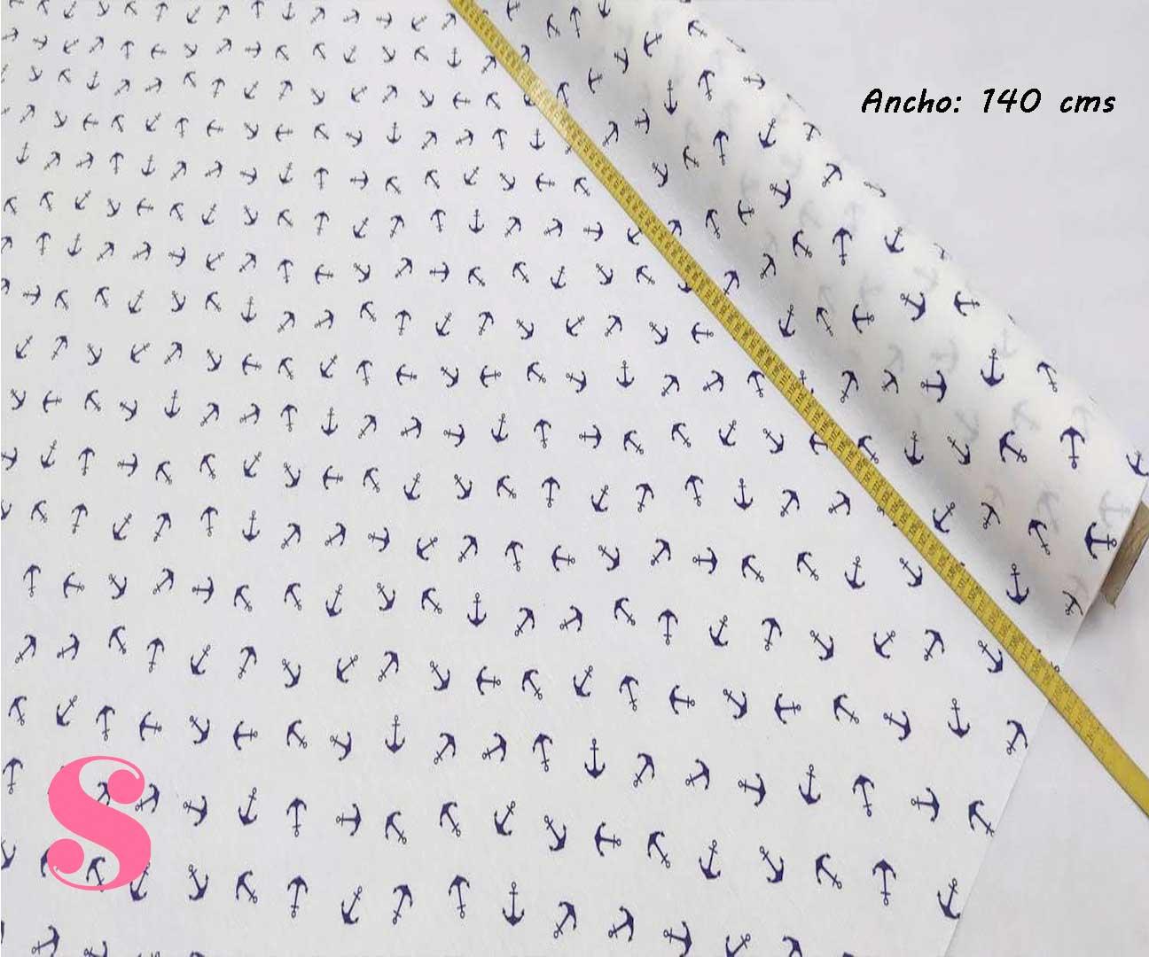 303-anclas-marineras-fondo-blanco-mantel-estampado-hules-antimanchas-facil-lavado,Mantel Anclas Marineras Resinado Antimanchas