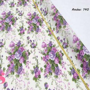307 Mantel Flores de lilas Resinado Antimanchas