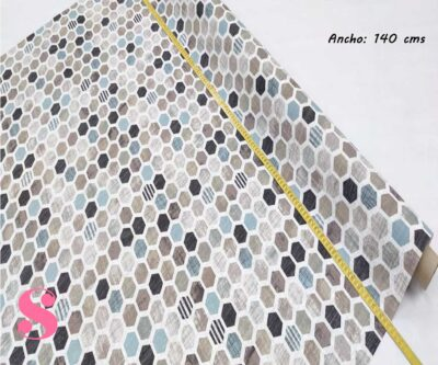 311-mosaico-panal-hexagono-mantel-estampado-hules-antimanchas-facil-lavado,Mantel Mosáico Panal Hexágonos Resinado Antimanchas