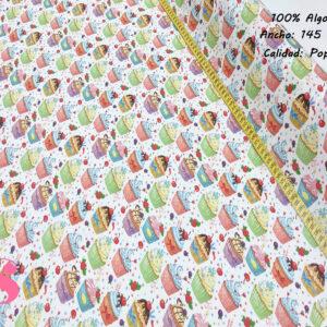 369 Popelín Estampado Cupcakes