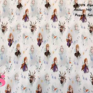 385 Popelín Estampado Frozen Personajes