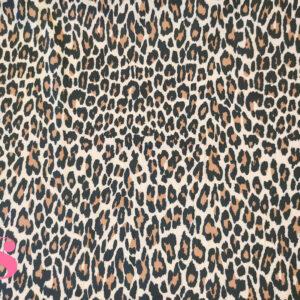 389 Popelín Estampado Satinado Leopardo Oscuro