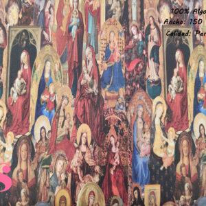 423 Percal Estampado Vírgenes Religiosas