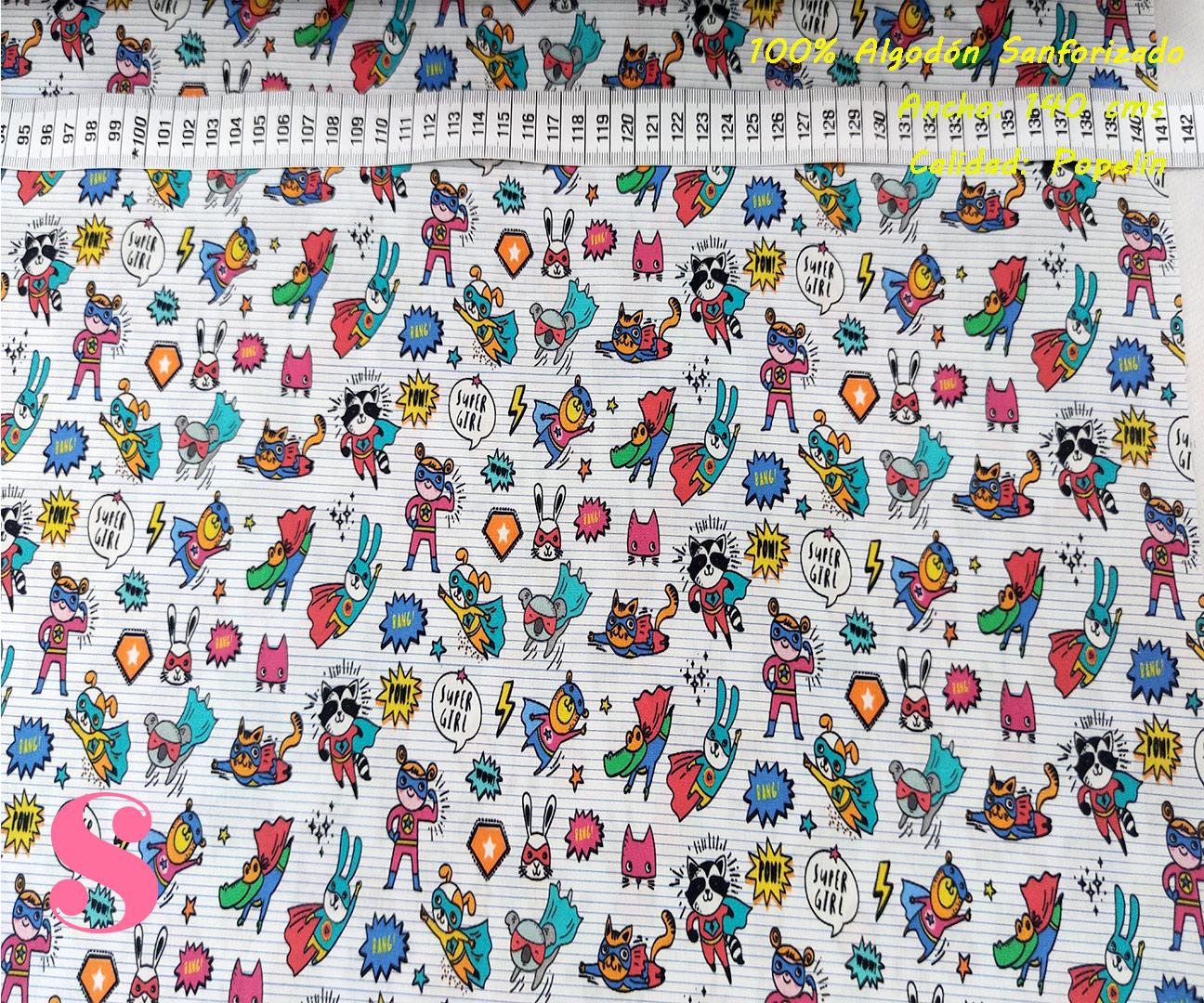 435-conejitos-superheroes-tejidos-estampado-popelin-sanforizado,Tejido Algodón Estampado Conejitos SuperHéroes