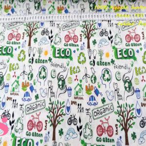 436 Tejido Algodón Estampado Eco Medio Ambiente