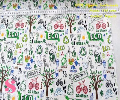 436-eco-medioambiente-tejidos-estampado-popelin-sanforizado,Tejido Algodón Estampado Eco Medio Ambiente