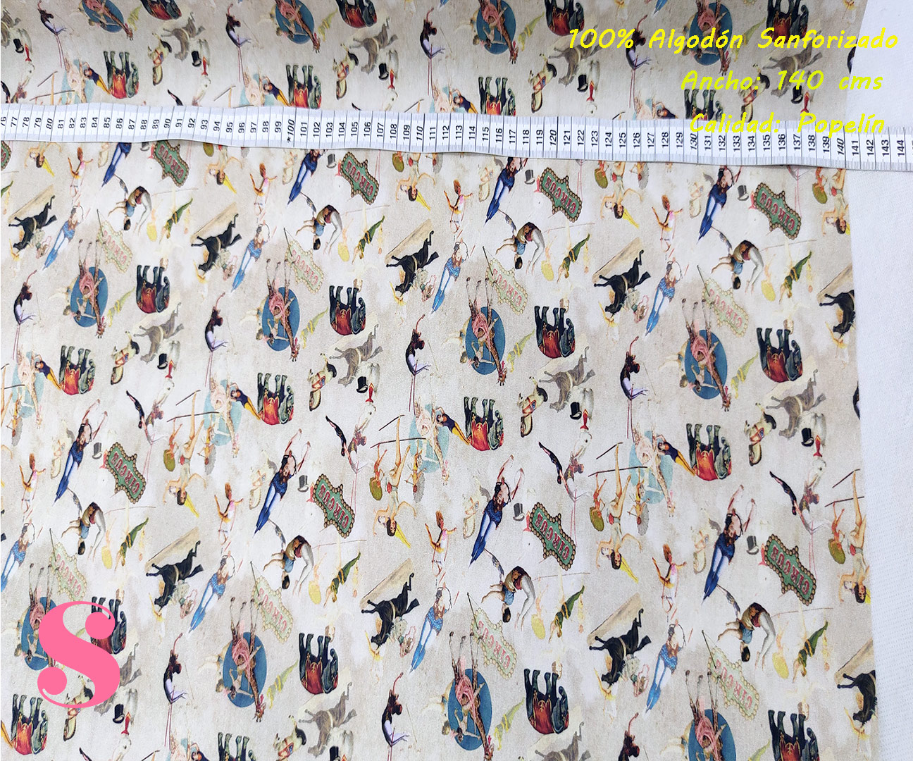 437-figuras-tejidos-estampado-popelin-sanforizado,Tejido Algodón Estampado Circus