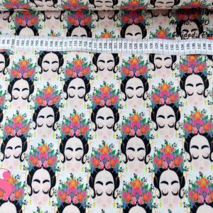 426 Percal Estampado Frida Kahlo Dulces Sueños