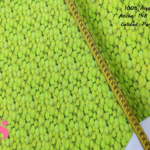 442 Tejido Algodón Estampado Pelotas de Tenis
