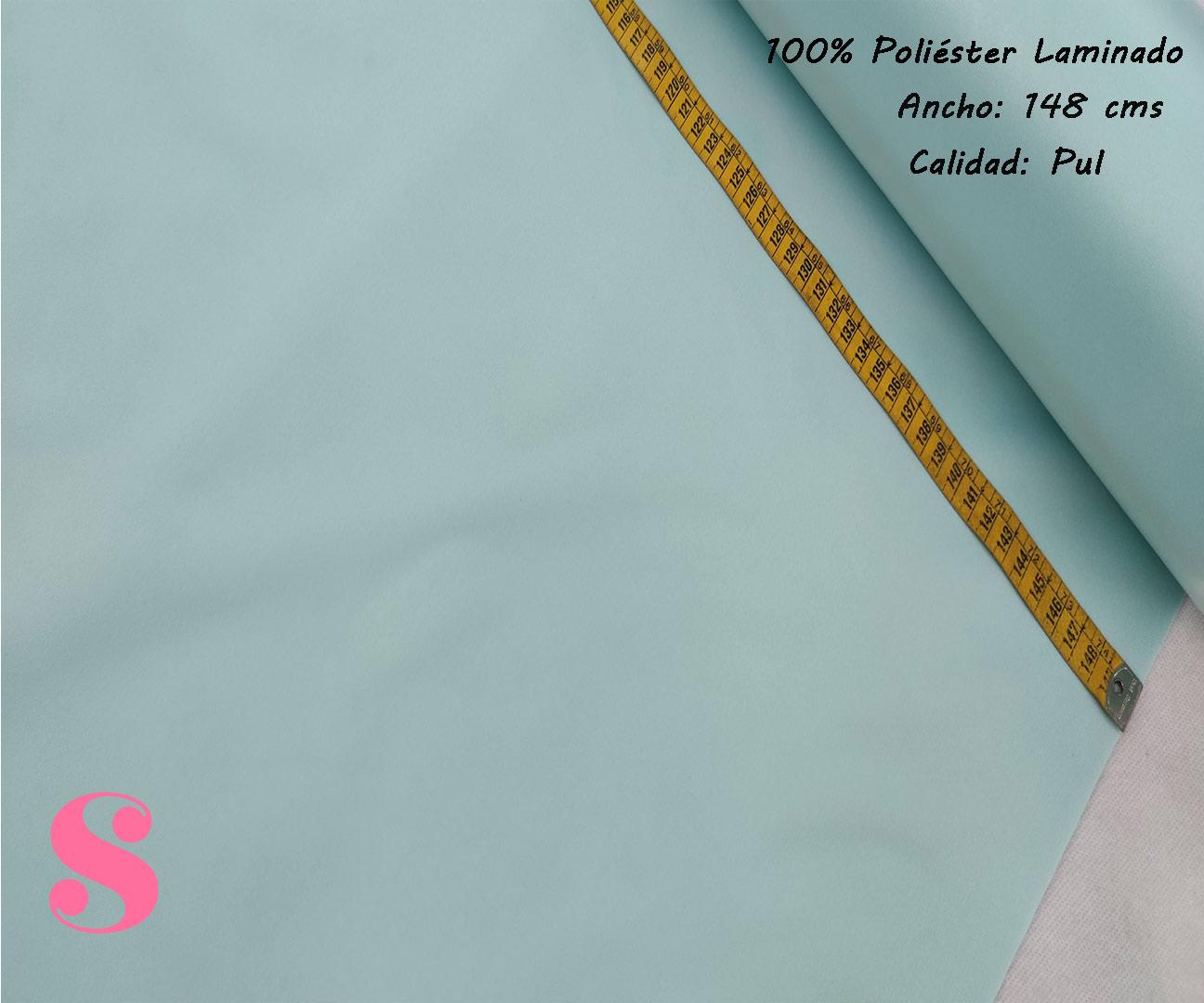 Tela Pul Verde Agua Bebé,pul-colores-liso-tejidos-poliéster-laminados