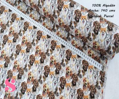 L24-perros-astutos-americano-tejidos-algodón-estampado-percal,Tejido Estampado Perros
